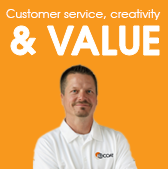 Customer service, creativity & VALUE